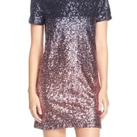 Maia Ombré Sequin Mesh Shift Dress | Nordstrom