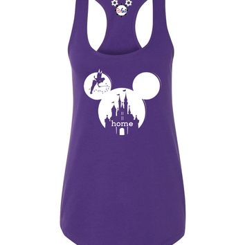 Mickey Castle Is My Home Ladies Tank