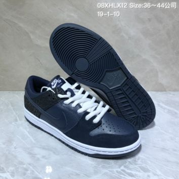 KUYOU N955 Humidity X Nike SB Dunk Low QS Trumpet Casual Skate Shoes Black Blue 1