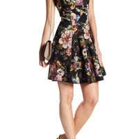 Gabby Skye | Cap Sleeve Floral Print Fit & Flare Dress | Nordstrom Rack