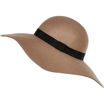River Island Womens Beige floppy hat