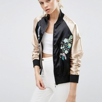 Brave Soul | Brave Soul Embroidered Bomber Jacket at ASOS