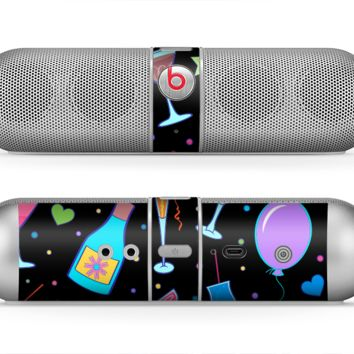 The Neon Party Drinks Skin for the Beats by Dre Pill Bluetooth Speaker