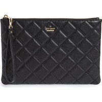 kate spade new york emerson place filey quilted leather clutch | Nordstrom