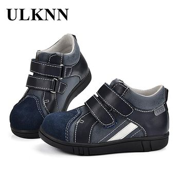 ULKNN Children Shoes Boys Jeans Casual Shoes School For Kids Genuine Leather Handmade Sewing Sneakers for Boys tenis infantil