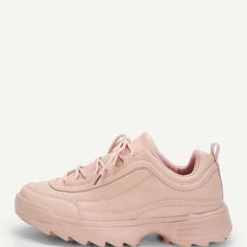 Riley Chunky Sneakers- Pink