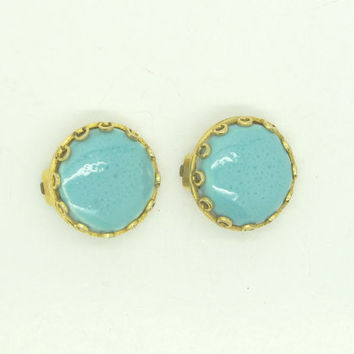 Vintage clip on earrings, Blue clip on earrings, Etsy gifts for women, Vintage clip on earrings costume jewelry, clip on earrings vintage
