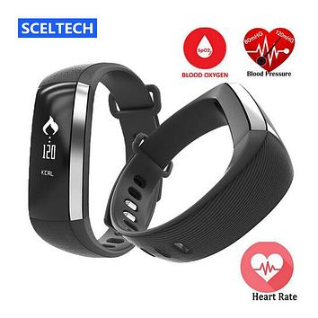 SCELTECH M2 Blood pressure Smart Bracelet Pulse Meter Monitor Cardiaco Fitness Smartband For IOS VS Mi Band 2 Fitbits Fit Bit