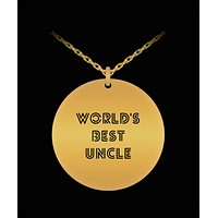 World's Best Uncle 18K Gold Plated Chain