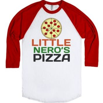 Little Nero's Pizza Home Alone Christmas Shirt-White/Red T-Shirt