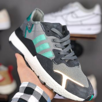 HCXX A1370 Adidas Nite Jogger EQT Boost Fashion Casual Running Shoes Gray Green