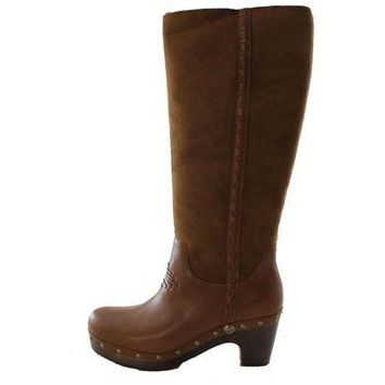 DCCK8X2 Authentic UGG Australia Jemma Tall Women's Charcolate Brown Shearling Fur Winter Boots