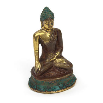 Weighty Bronze Finely Detailed  Buddha