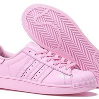 Adidas Womens Superstar All Pink