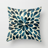 Petal Burst #5 Throw Pillow by Klara Acel