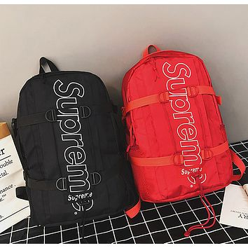 Casual Supreme Backpack Travel Bag 3M Reflective Bookbag Sport Laptop Bag School Bag