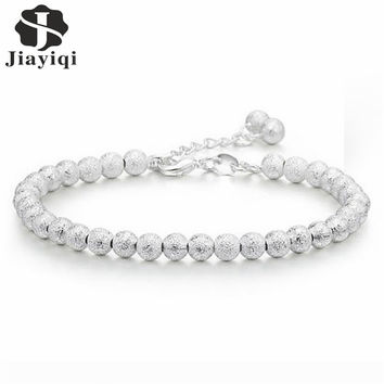 2016 Silver Plated Beads Party Wedding Bracelets & Bangles Fashion Love Friendship Bracelets for Women Top Quality Girls Gift