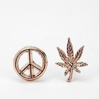 Bing Bang Give Peace a Chance Duet Post Earring