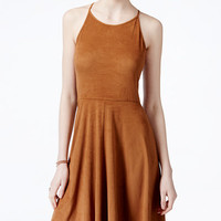 American Rag Sleeveless Faux-Suede Fit & Flare Dress, Only at Macy's - Juniors Dresses - Macy's