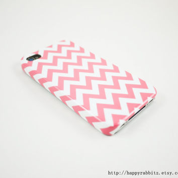 Pastel Pink Chevron iPhone 4 Case iPhone 4s Case by happyrabbitz