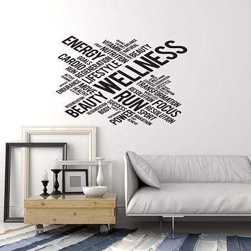 Vinyl Wall Decal Wellness Beauty Salon Spa Words Cloud Interior Art Stickers Mural (ig5752)