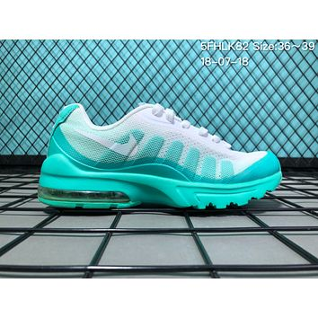 KU-YOU N009 Nike Air Max 95 Net Surface Breathable Causal Running Shoes Blue White