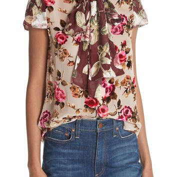 Alice + Olivia Jeannie Bow Collar Blouse | Nordstrom
