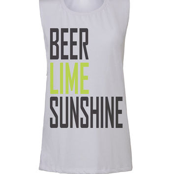 beer lime sunshine workout tank workout top workout womens workout shirts workout clothes gym tank gym fitness tank activewear