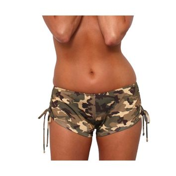 Women's Camo String Shorts Bikini Beach Swimwear