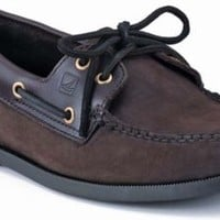 Sperry Top-Sider Authentic Original 2-Eye Boat Shoe BrownBucBrown, Size 9W  Men's Shoes