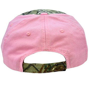Primos Hunting Brand Ladies Womens Vintage Style Diamond Gems Camo Pink Hat Cap