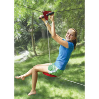 The Seated Backyard Zipline Kit - Hammacher Schlemmer