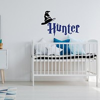 WonderWallzStore Harry Potter Personalized Name Wall Decal - Boy Name Decal Harry Potter Themed Decor- Custom Wall Decal Kids Boys Harry Potter Bedroom Decor