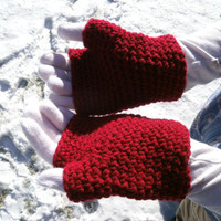 Double Layer Children's Gloves, fingerless and two-layer options, fits ages 5-7