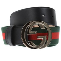 Gucci Belt Sz. 110 Made In Italy Man Green 411924H917N-1060 PUT OFFER