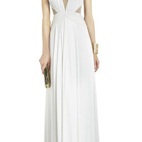 BCBG Magdalena Draped Jersey Evening Gown