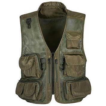Men Military Vest Marriage Journalist Photography Multi pocket Men Work Vests