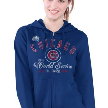 Chicago Cubs Women's 2016 World Series Full Zip Hoodie By G3