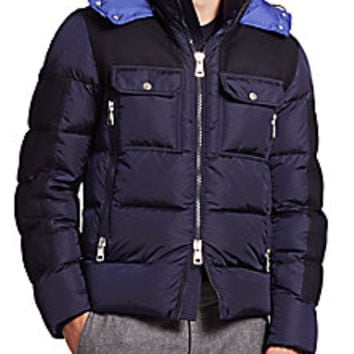 Moncler - Dimier Mixed Media Puffer Jacket - Saks Fifth Avenue Mobile