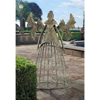 SheilaShrubs.com: Tempest, The Metal Garden Trellis Fairy FU71593 by Design Toscano: Garden Sculptures & Statues