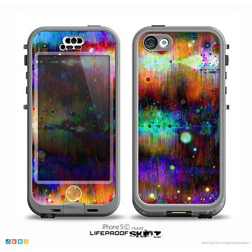 The Neon Paint Mixtured Surface Skin for the iPhone 5c nüüd LifeProof Case
