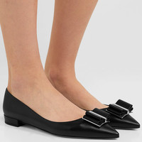 Salvatore Ferragamo - Zeri leather point-toe flats