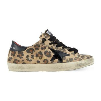 DCCKIG3 GOLDEN GOOSE SUPER STAR LEOPARD PRINT SNEAKERS