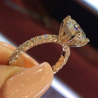 Land Of Rose's Engagement Rings for Women Gold Silver Color Wedding