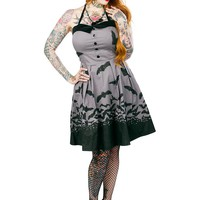 Spooksville Bat Dress - Grey :: VampireFreaks Store :: Gothic Clothing, Cyber-goth, punk, metal, alternative, rave, freak fashions