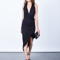 Nights Out Wrapped Midi Dress