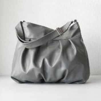 Baby Ruche Bag in Gray Leather Made to Order by jennyndesign