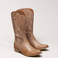 AEO Perforated Cowboy Boot | American Eagle Outfitters