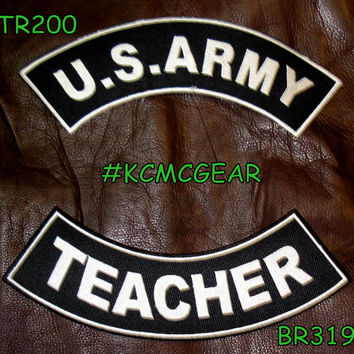 Military Patch Set U.S. Army Teacher Embroidered Patches Sew on Patches for Jackets