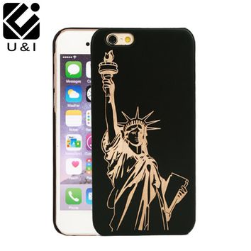 2016 Popular Retro Wood Phone Case for iPhone 7 7plus Natural Carving Design Wood With Durable Plastic Edges Case Fast delivery